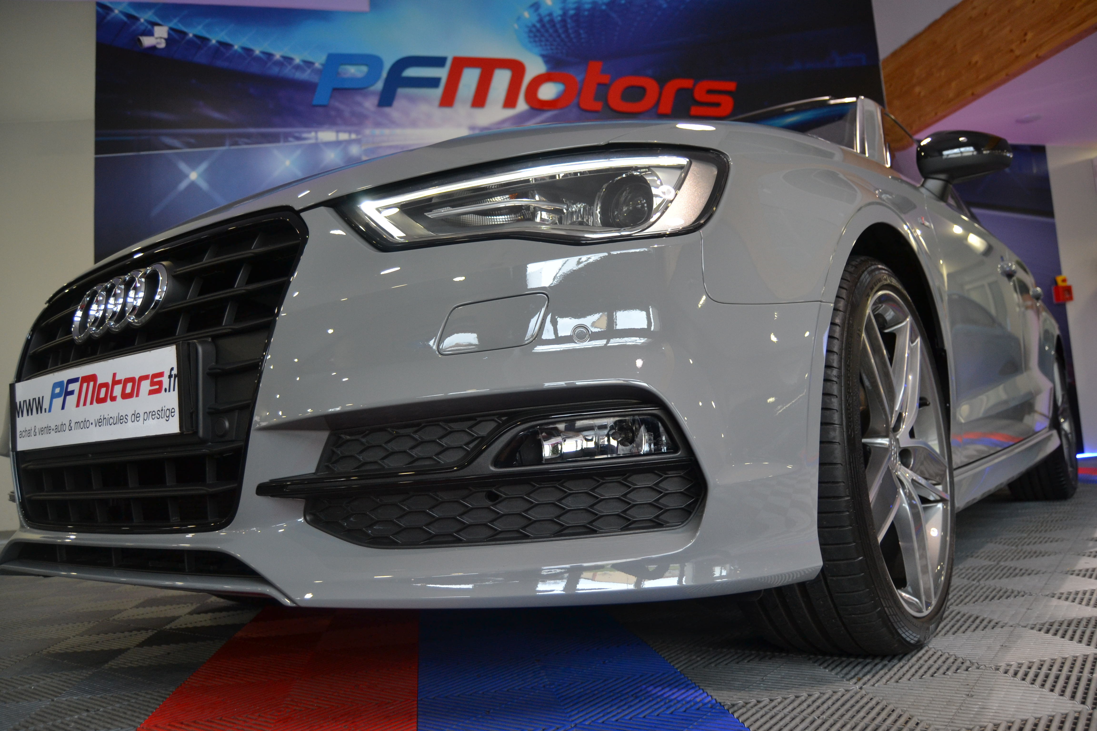 Audi A3 Berline S-Line 2.0 TDI 150 TO GPS Gris NARDO - Pf ...